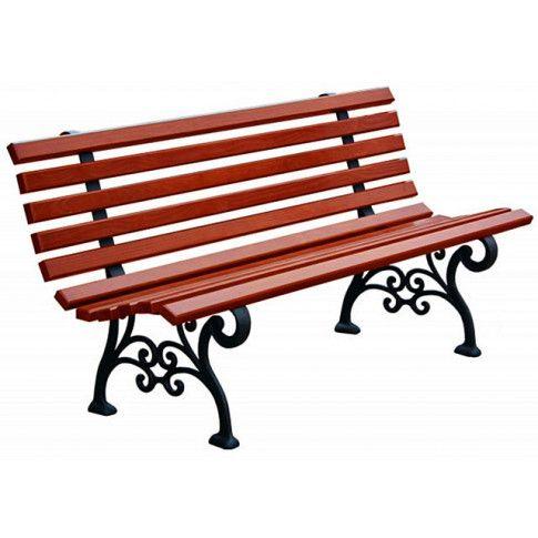 romantyczna ławka ogrodowa